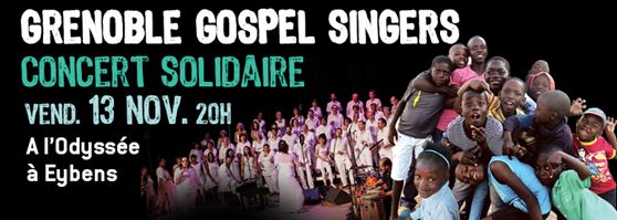 Le concert solidaire vendredi 13 novembre à 20h à l'Odyssée d' Eybens