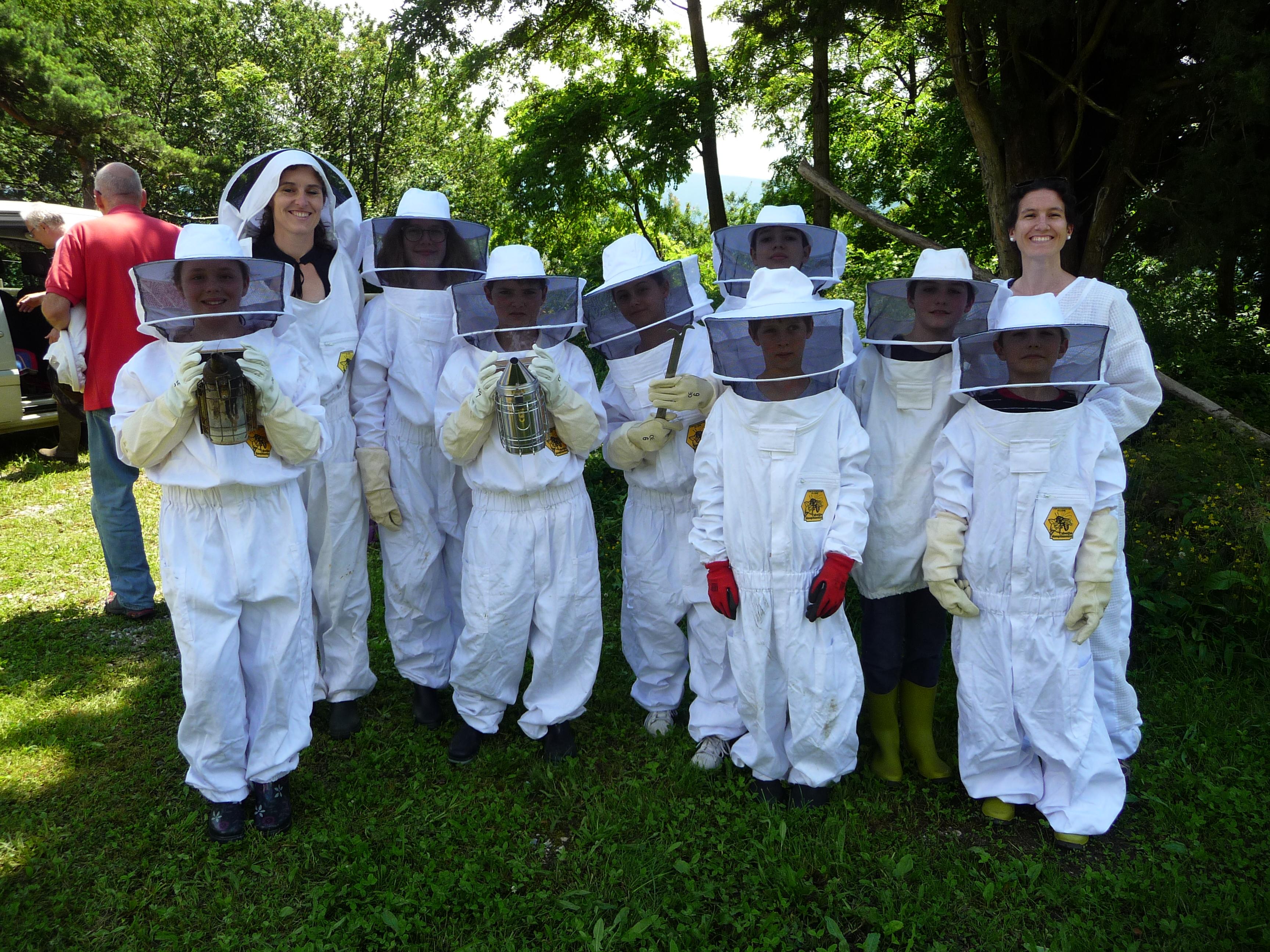 Les apiculteurs de l'Abeille Dauphinoise étaient avec nous