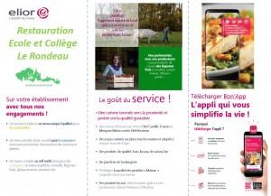 Restauration Ecole et Collège Le Rondeau